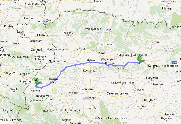 Dwie największe skupiska Polaków na Ukrainie dzieli przeszło 400 kilometrów.