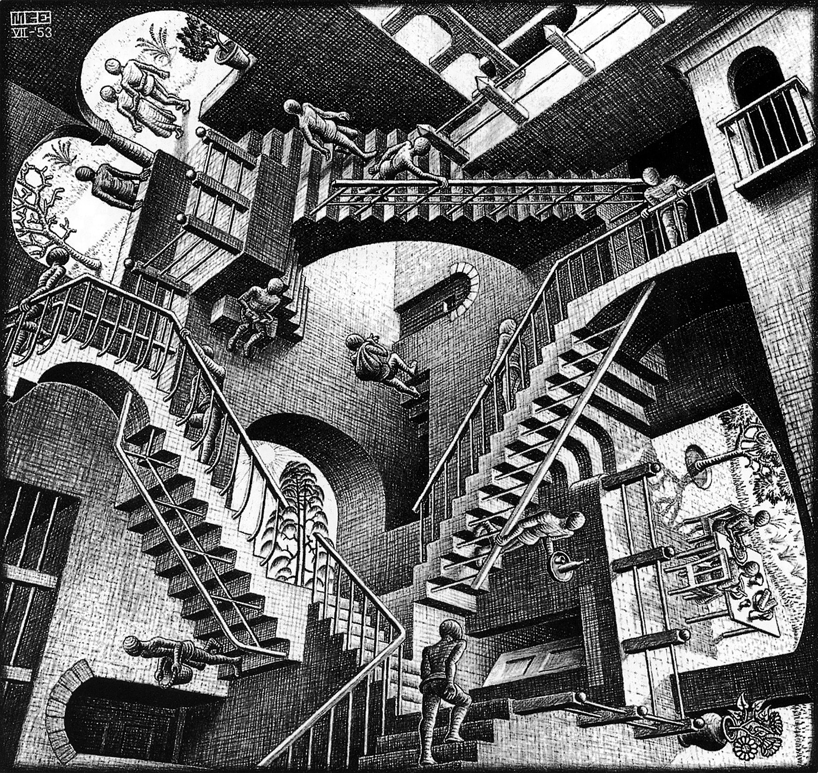 Maurits Cornelis Escher; Wchodzenie po schodach vel Względność