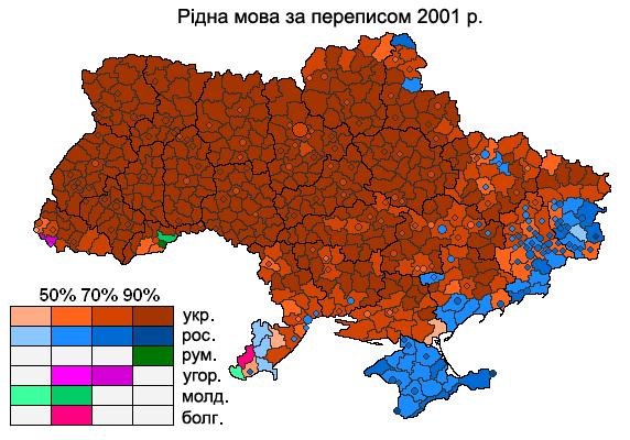 Ukraiński i rosyjski na Ukrainie