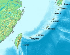 Mapa wysp Riukiu