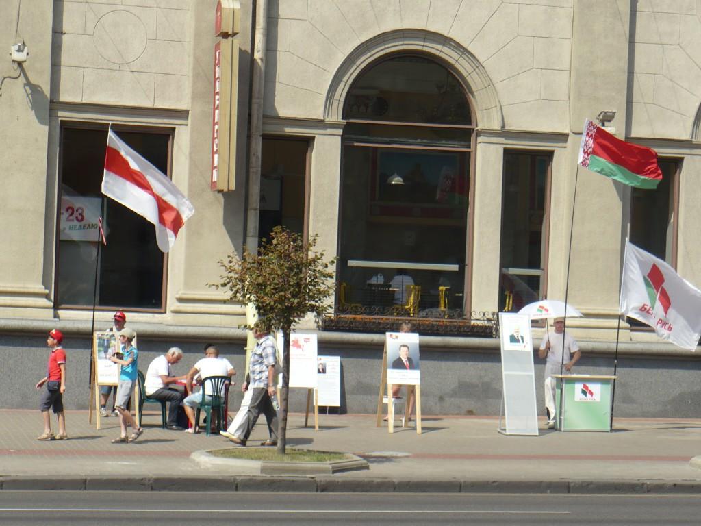 Kampania prezydencka w Mińsku